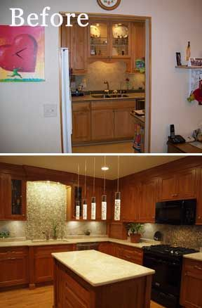 Open concept townhome kitchen remodel created by Normandy Designer ...