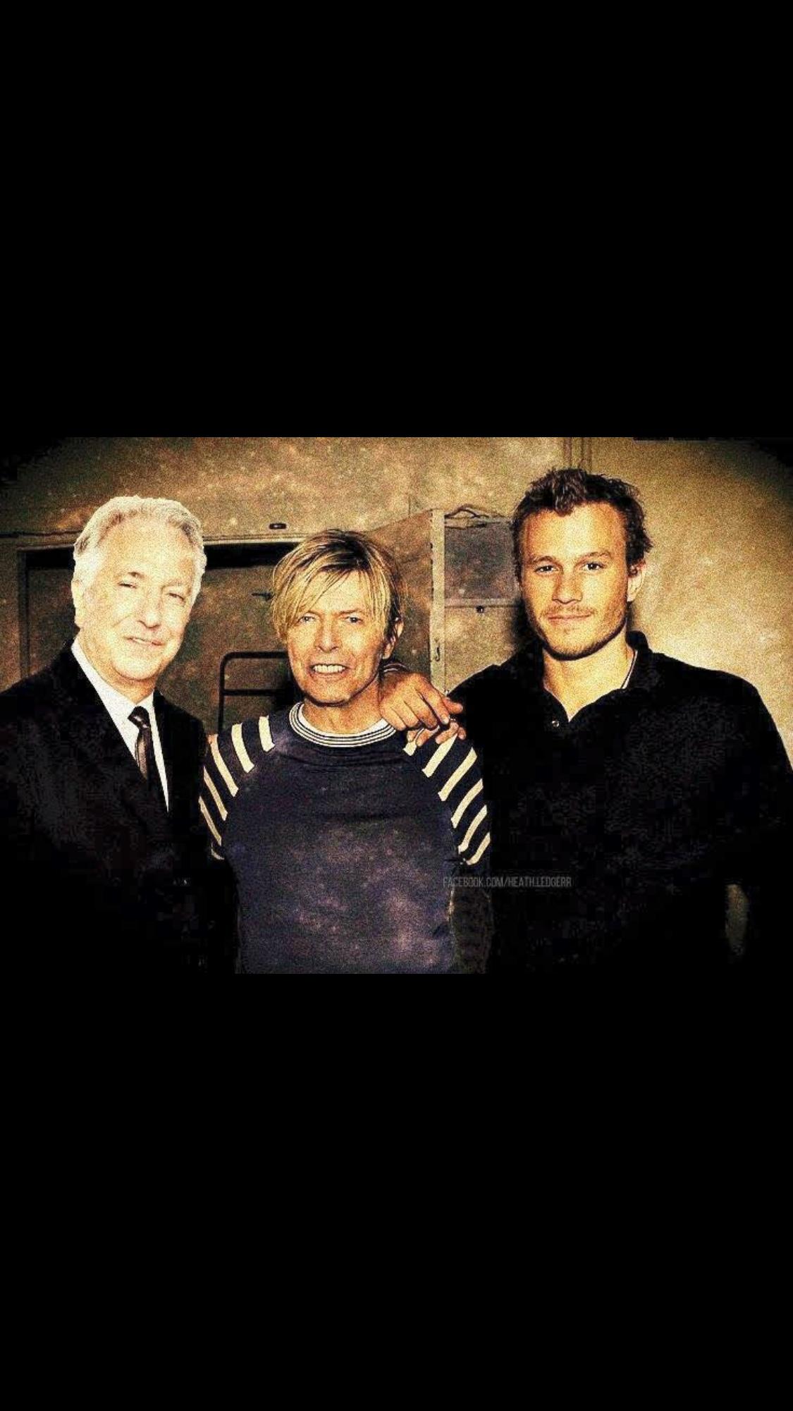 Alan Rickman, David Bowie, and Heath Ledger❤️..,