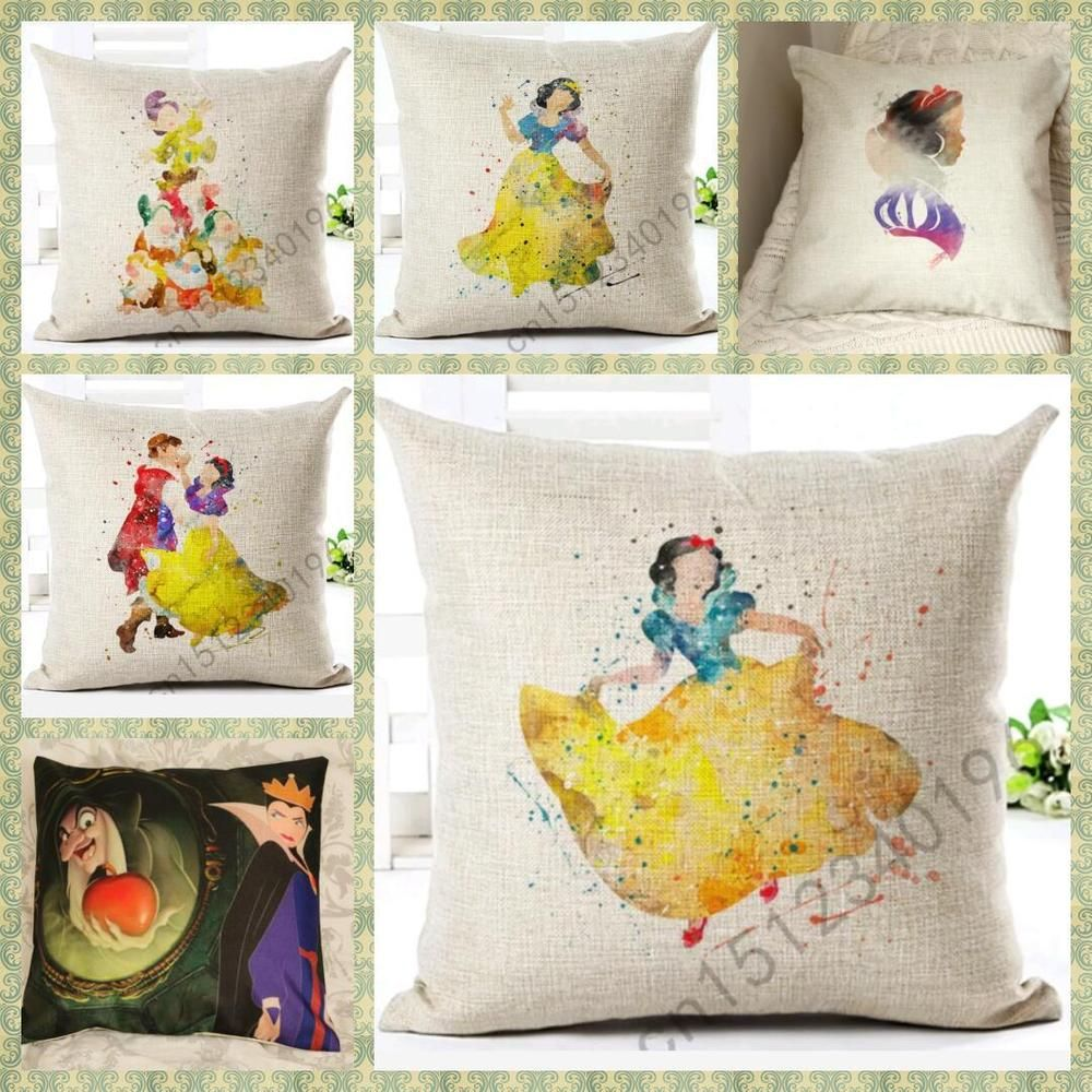 Diy Disney Pillowcase: snow white evil queen disney princess Cushion Cover Pillow Case    ,
