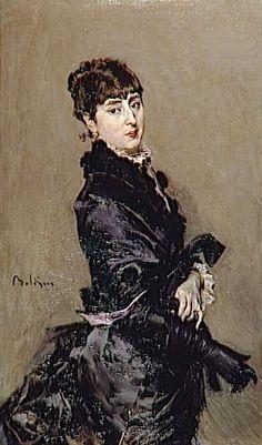 """Giovanni Boldini (Italian, 1842-1931) """"Ritratto di Cecilia de Mandrazo Fortuny"""" 1882 Bordeaux - Musée des Beaux Art"""