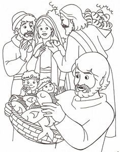 Coloring Pages About Jesus Feeding 5000