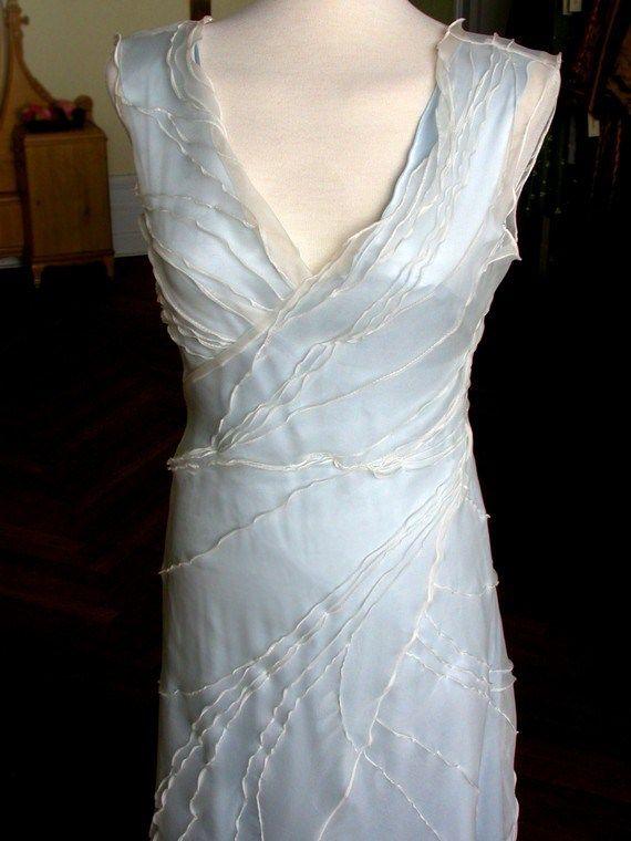 Light blue wedding dress - see more ideas on http://themerrybride ...