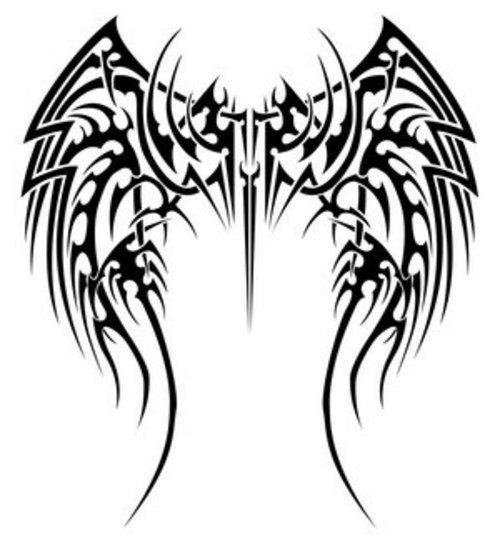 Tribal Tattoos Angel Wings รอยส กลายชนเผ า ไอเด ยรอยส ก ลายส ก