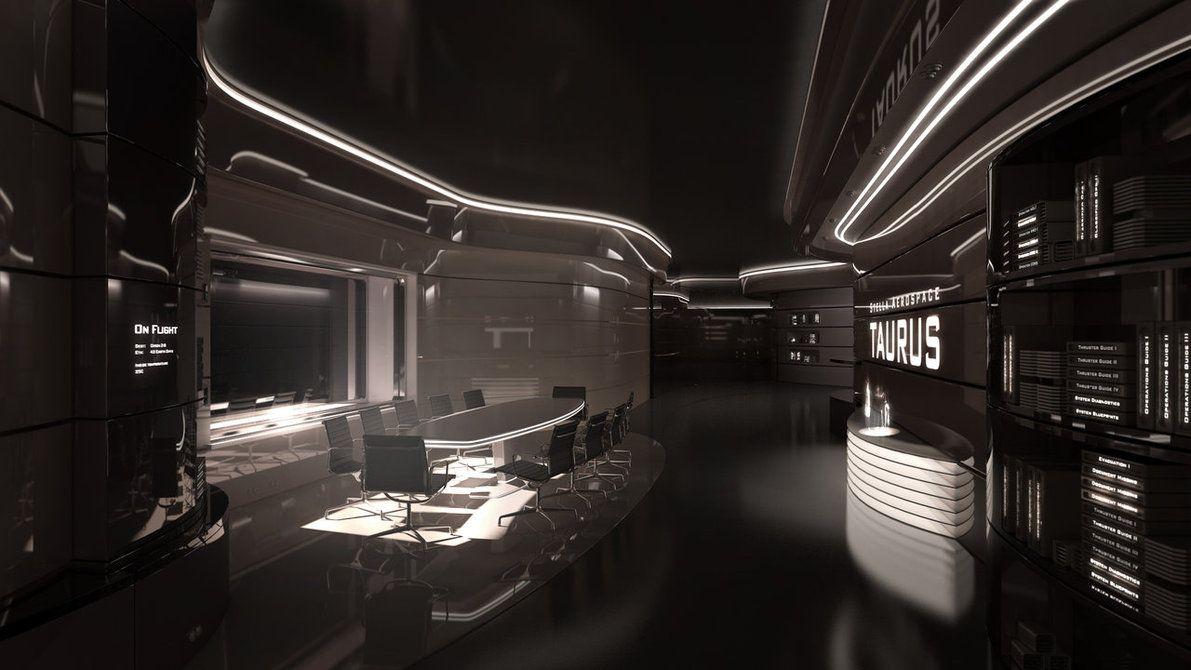 Cyberpunk Atmosphere Future Futuristic Interior Taurus III