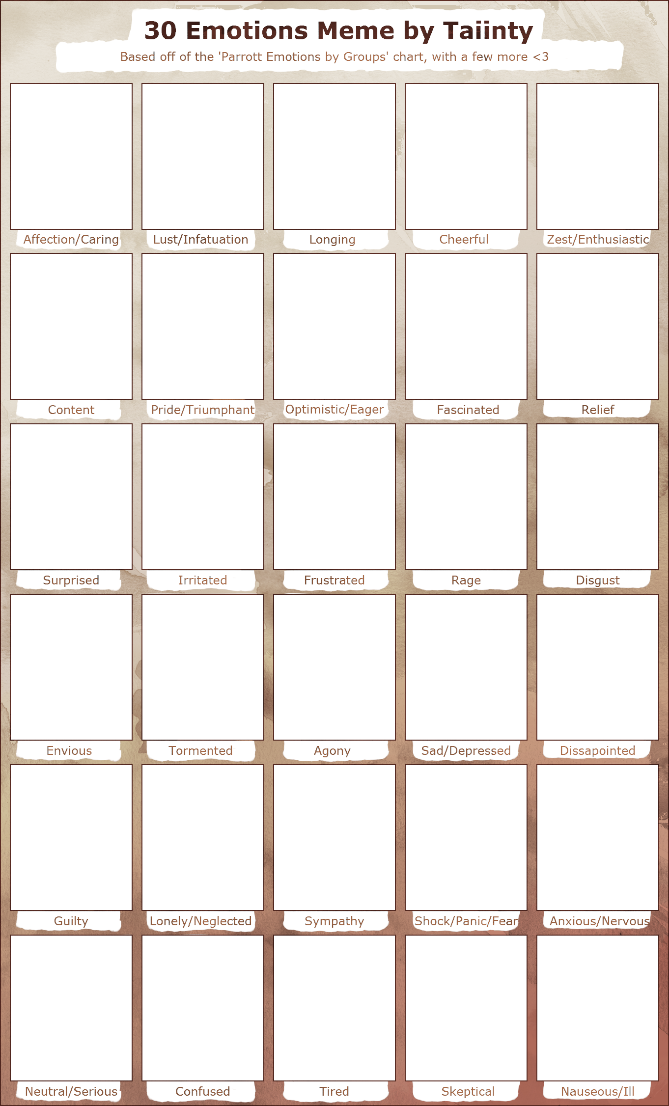 BLANK 30 Emotions Meme by ThisAccountIsDead462.deviantart ...