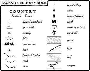 map symbol for lake Legend Of Map Symbols Map Symbols Fantasy Map Fantasy World Map map symbol for lake
