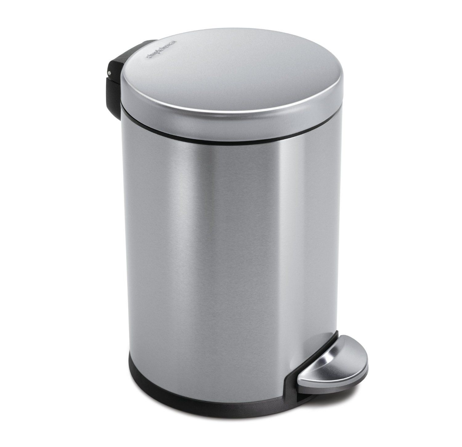 simplehuman Round Step Trash Can Fingerprint Proof Brushed
