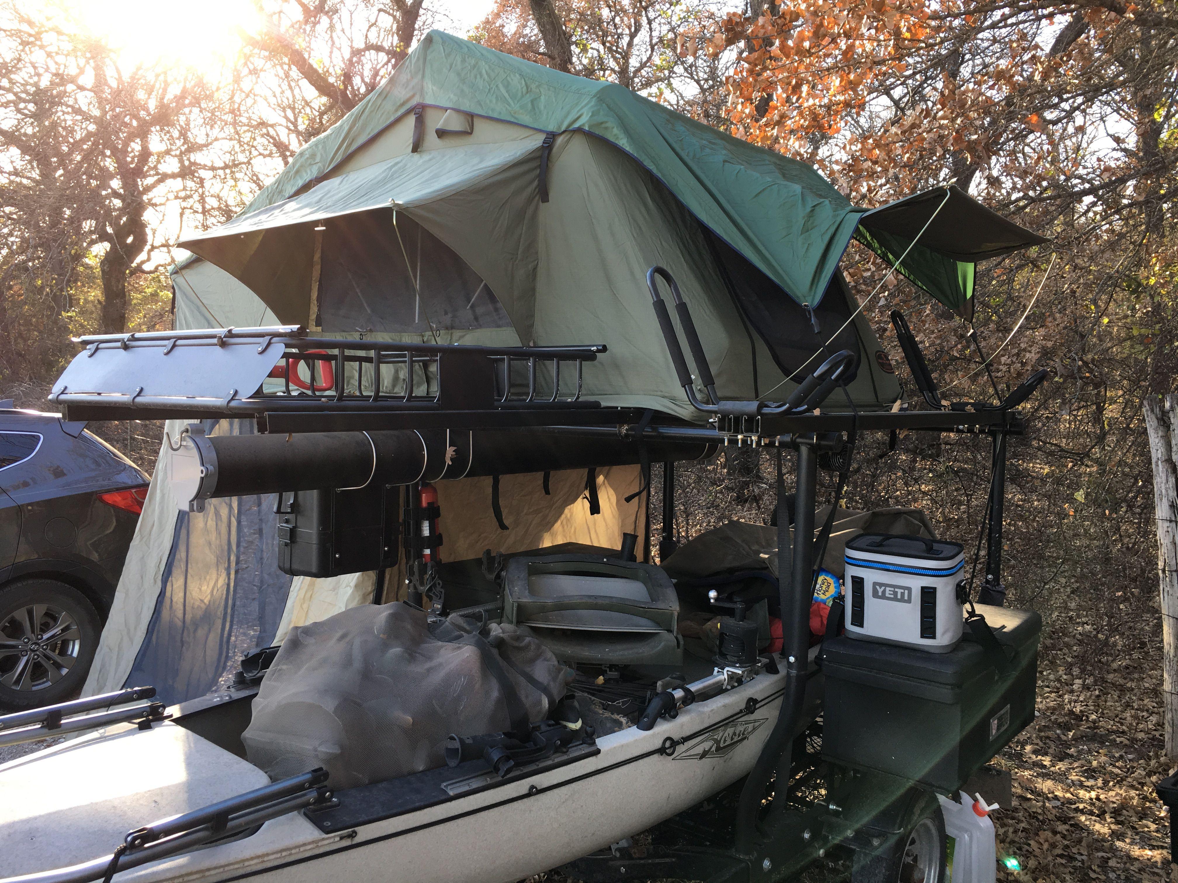 Pin By Dale Kildal On Kayak Roof Top Tent Rtt Kayak Trailer Jeep Camping Kayak Fishing