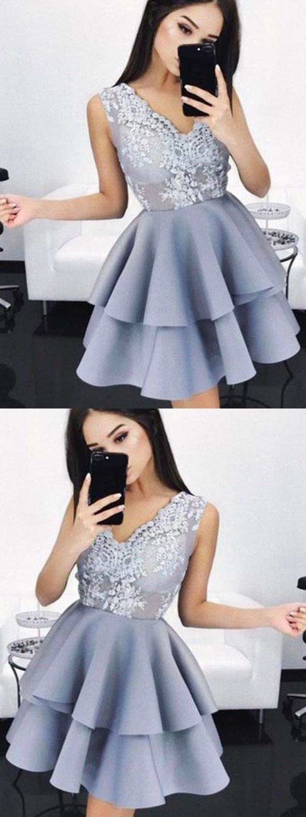 Sleeveless prom dresses vneck homecoming dress vneck homecoming