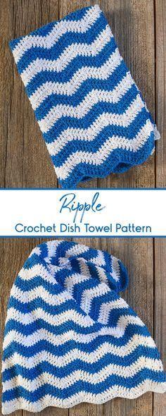 Ripple Crochet Dish Towel Pattern Crochet Tutorial Pinterest
