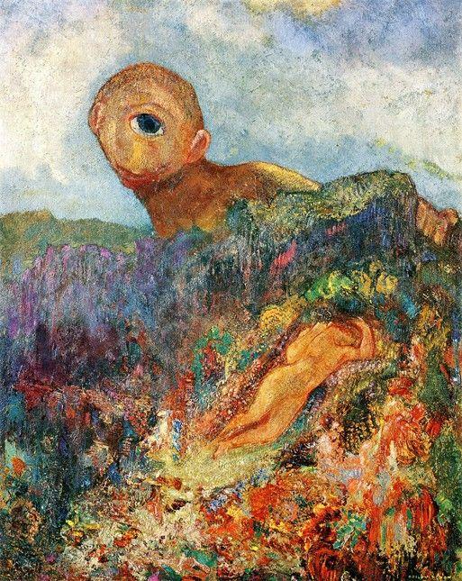 Odilon Redon Le Cyclope 1898 Le Lezard Applique Comment Peindre Les Arts Peintre