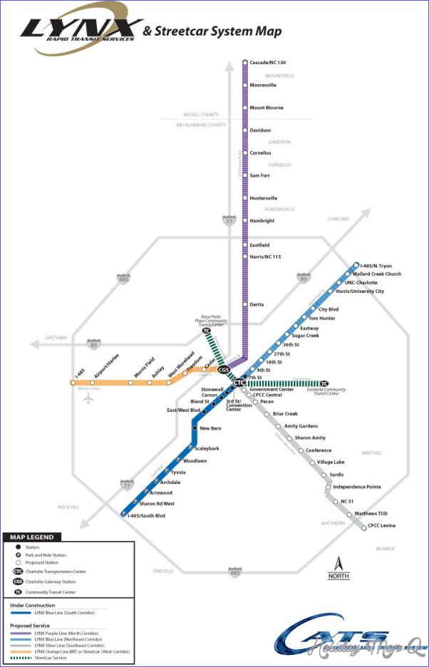 Charlotte Subway Map httpholidaymapqcomcharlottesubwaymap