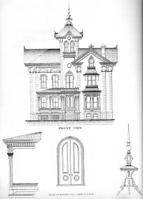 Instant House: Bicknell's Victorian Buildings = hand drawn elevations!!!