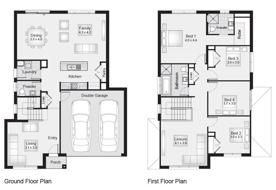 Bronte 25 || Floor Plan - 231.50sqm, 10.70m width, 14.00m depth ...