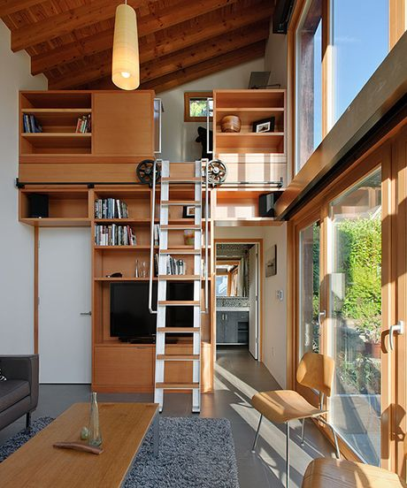 We know the importance of using every nook and cranny — and so do these 10 small space homes. One of the most important tips from this slideshow is to expand upwards; never let vertical space go to waste!
