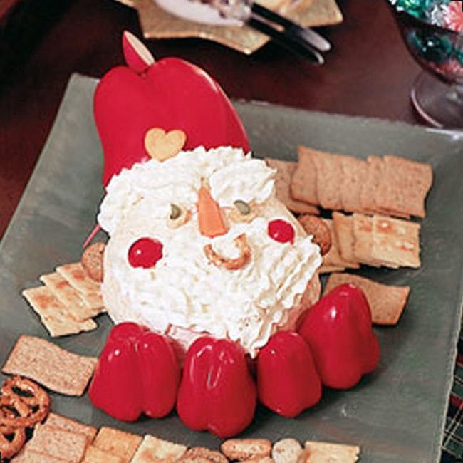 Christmas Party Appetizer Ideas Part - 29: Santa Cheese Ball Recipe. An Adorable Christmas Party Appetizer Idea!