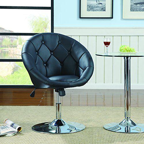 Coaster 102580 Round Back Swivel Chair Black Coaster Hom