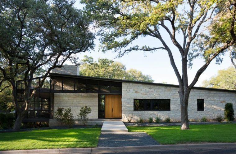 parement facade pierre mur maison design moderne - Facade Maison Style Moderne