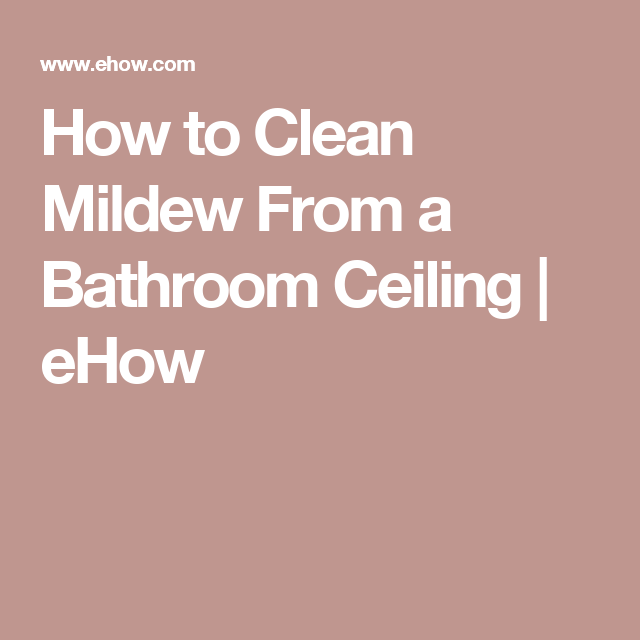 How To Clean Mildew From A Bathroom Ceiling - Clean mildew from bathroom ceiling
