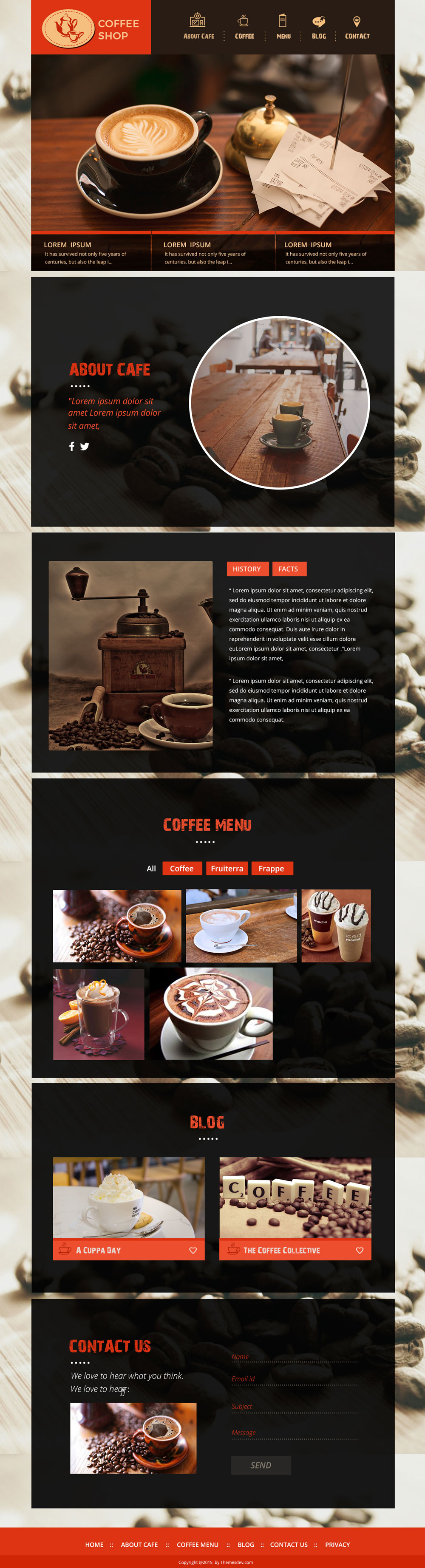 Business Legions Blog Things I Know I Will Forget Psd Template Free Templates Free Design Coffee Shop