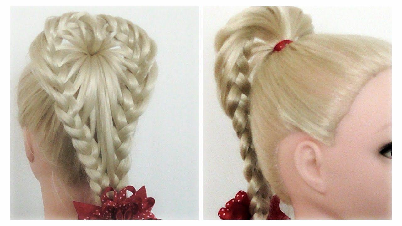 Valentines Day Hairstyles Love Heart Braid PonyTail / Hair Tutorial ...