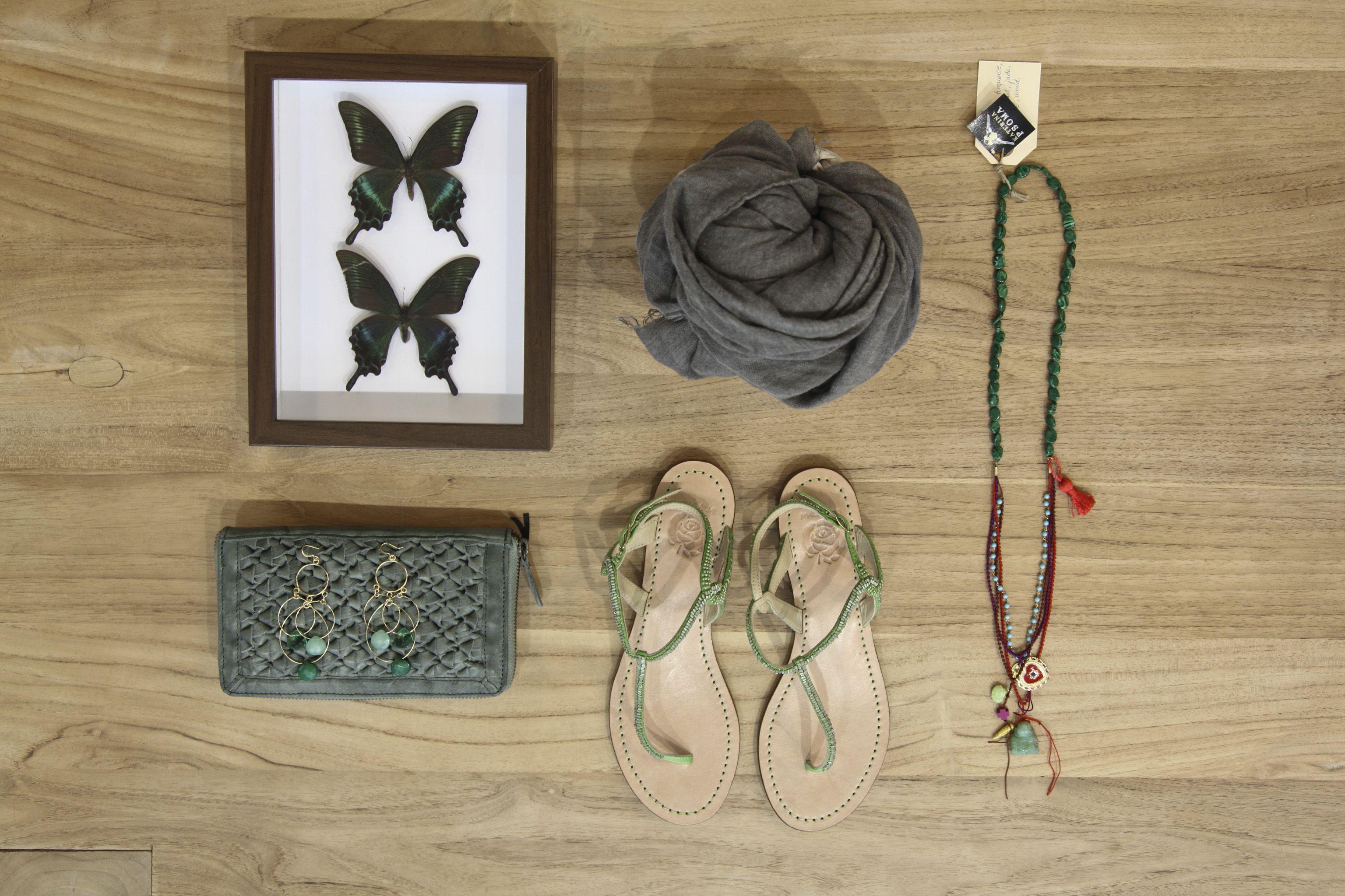 Green...& grey auka Summer 2013 accessories
