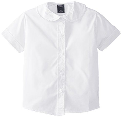 81daccbbd709 U.S. Polo Assn. Girls  Short Sleeve Broadcloth Shirt with Peter Pan Collar      More details