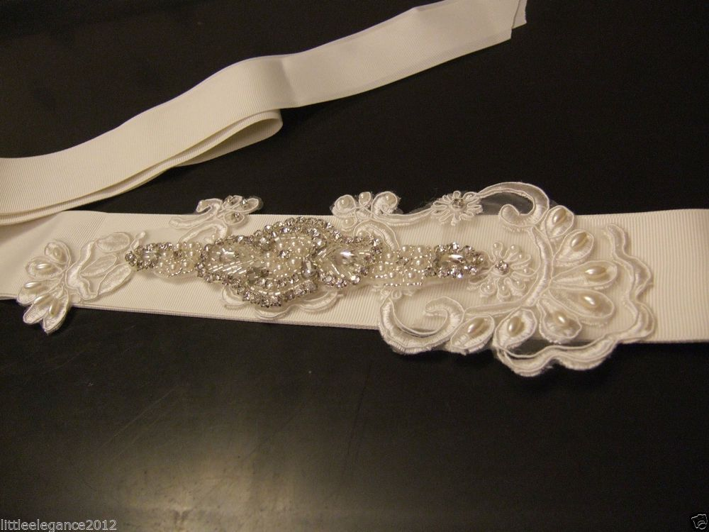 Wedding bridal Sash,Bridal dress belt bridal accessory .Satin belt Crystal,Pearl