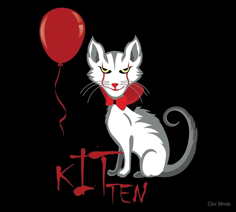We All Meow Down Here Kitten Clown Cat Spooky Halloween Hoodie Halloween Hoodie Scary Costumes Spooky Halloween
