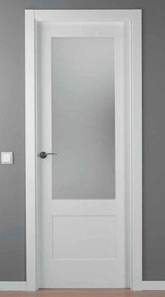 Puerta lacada blanca mod lac 5102 1v en 2019 puertas de - Puertas blancas exterior ...