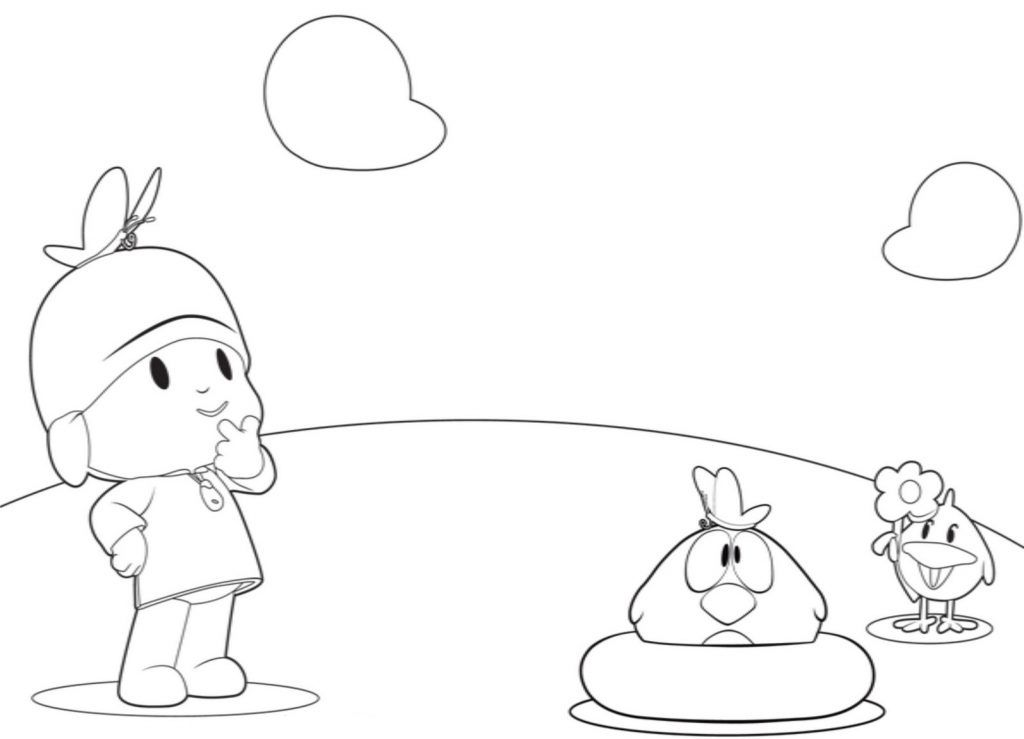 pocoyo pginas para colorear best coloring pages for kids - Pocoyo Friends Coloring Pages