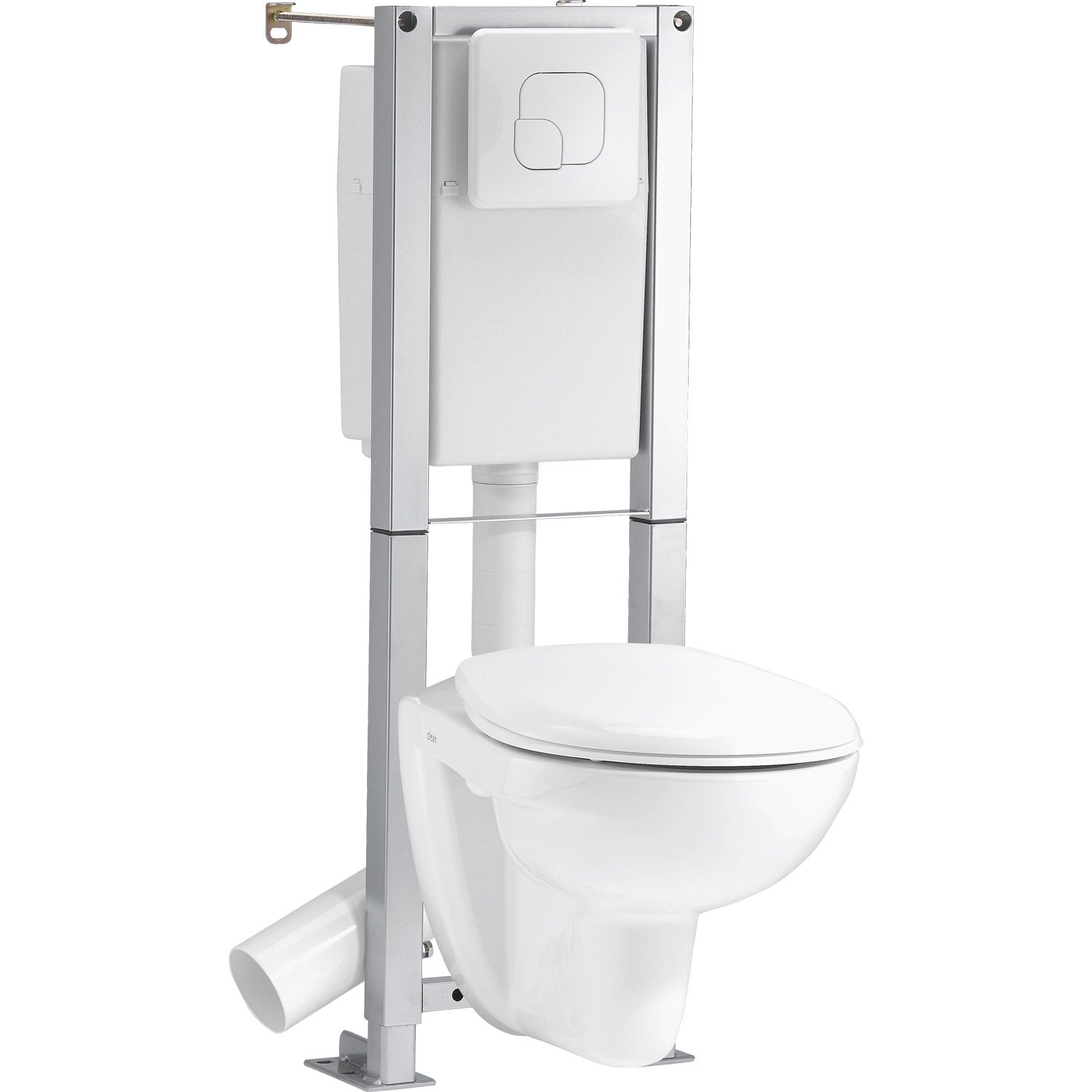 Pack wc suspendu autoportant sensea remix blanc salle de bain pinterest - Wc suspendu japonais ...