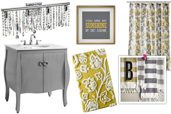 Genial Yellow And Grey Bathroom?