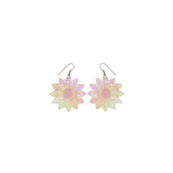 80 s iridescent earrings 7 99 liked on polyvore
