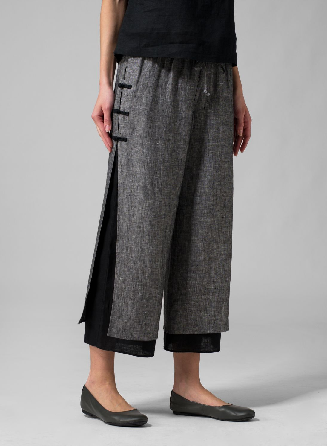 570d0dbc29c13 MISSY Clothing - Linen Double-Layer Pants