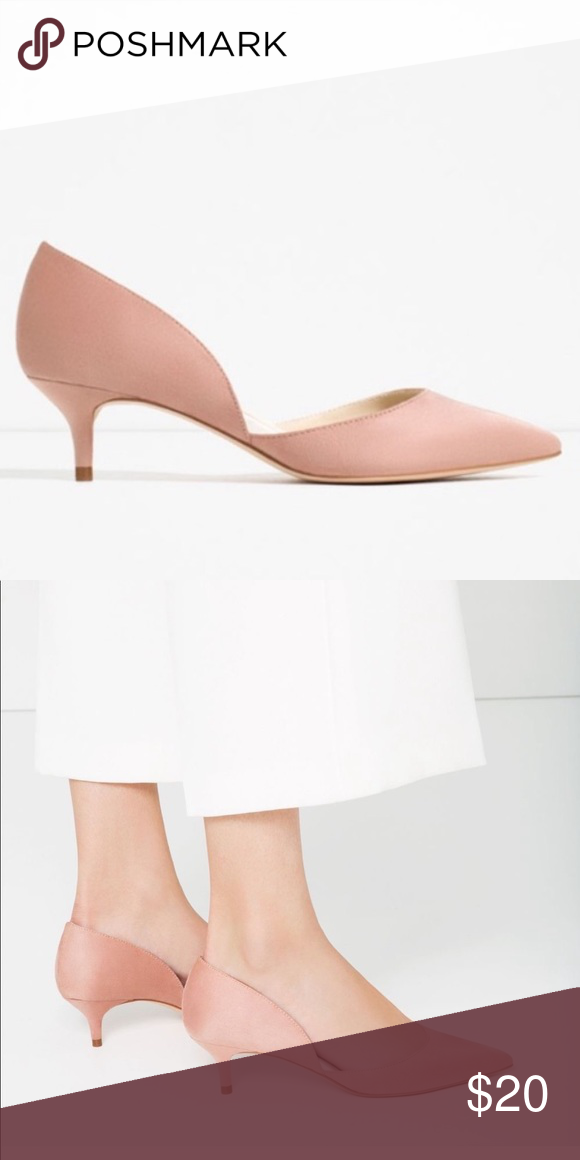 Zara blush pink kitten heels   Pink