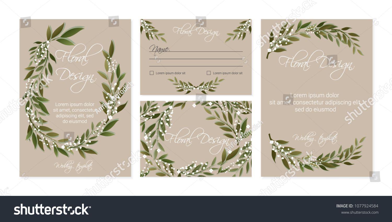 Banner on flower background wedding invitation modern card wedding invitation modern stopboris Choice Image