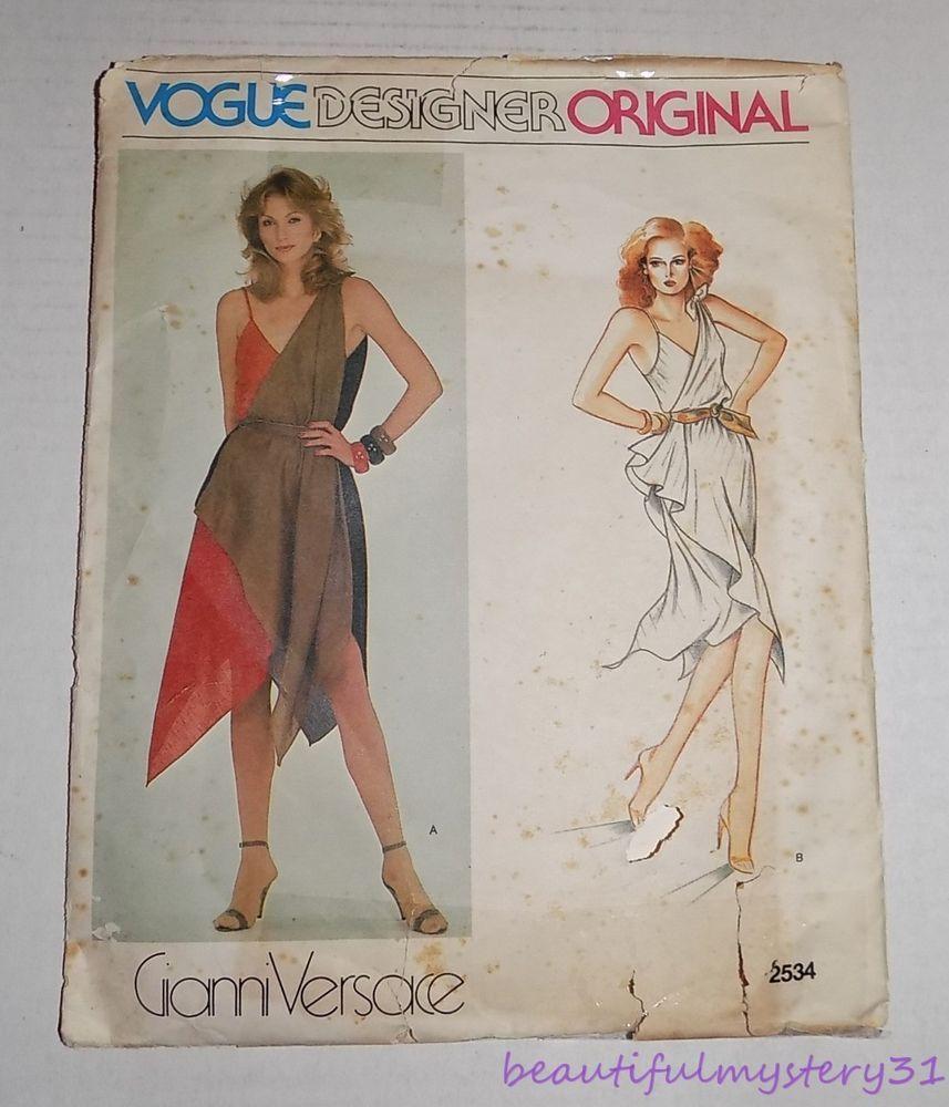 Vogue VDO 2534 80s GIANNI VERSACE Dress Sz14 bin 37.99+fr Apr\'17 ...