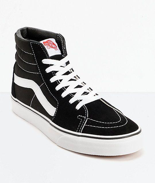 Vans Sk8 Hi Black & White Skate Shoes SOLO A PEDIDO USA