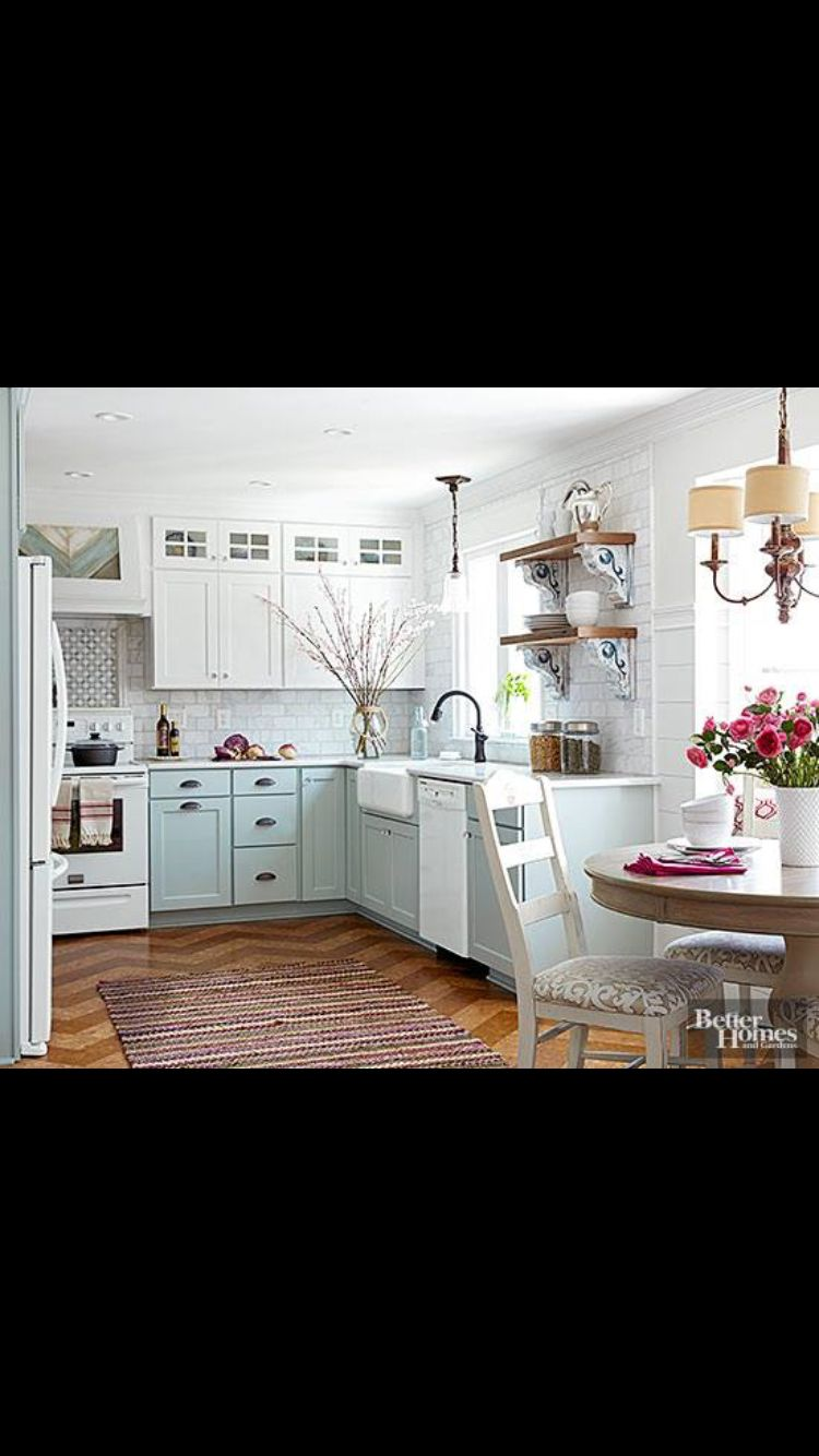 Wow same layout as our kitchen. I would like to see a Mexican style ...