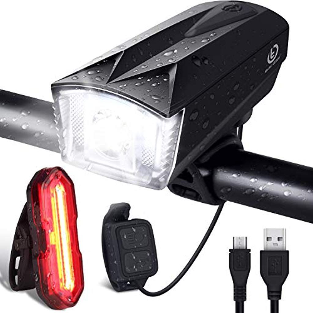 Omeril Ensemble Lumiere Velo Lampe Velo Led Puissante Rechargeable