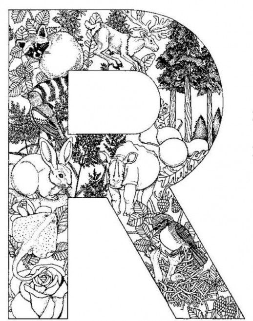 Fun Animal Print Design In R Letter Coloring Pages Speech