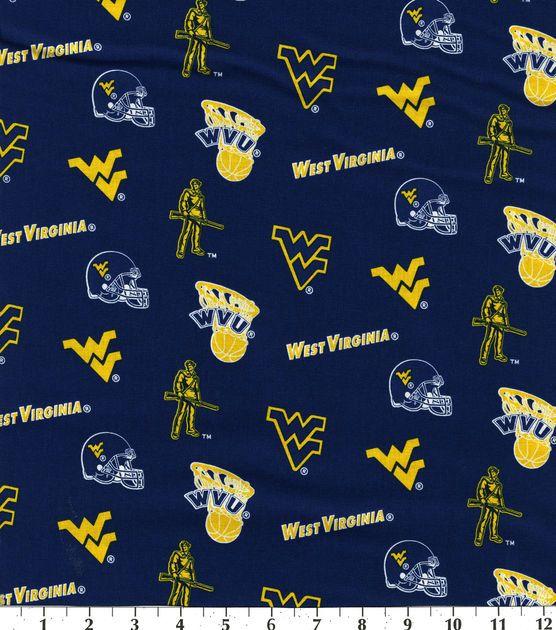 West Virginia University NCAA  Cotton Fabric