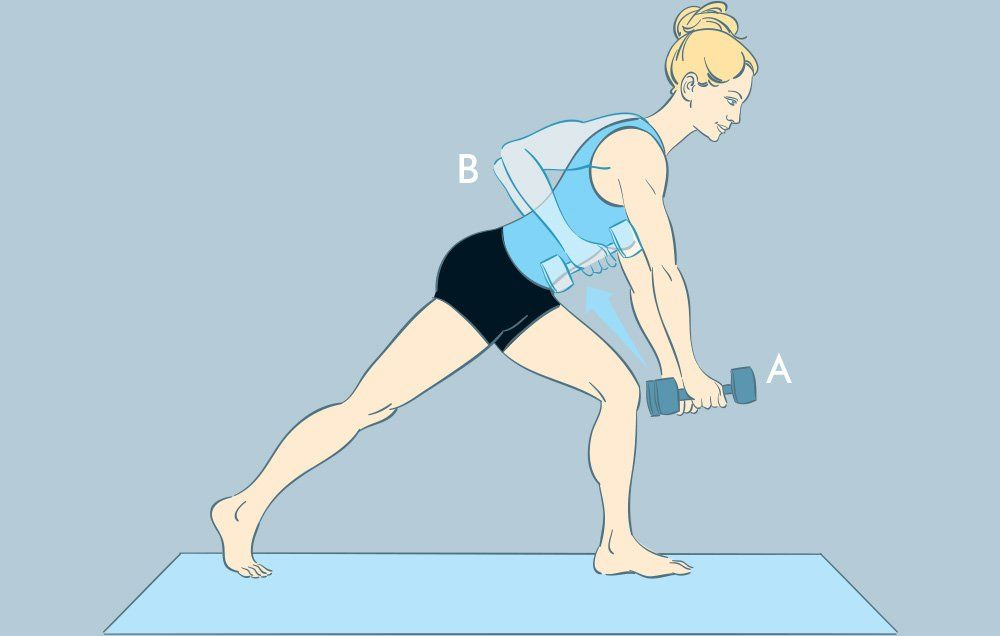 Image result for Crescent Lunge and Row