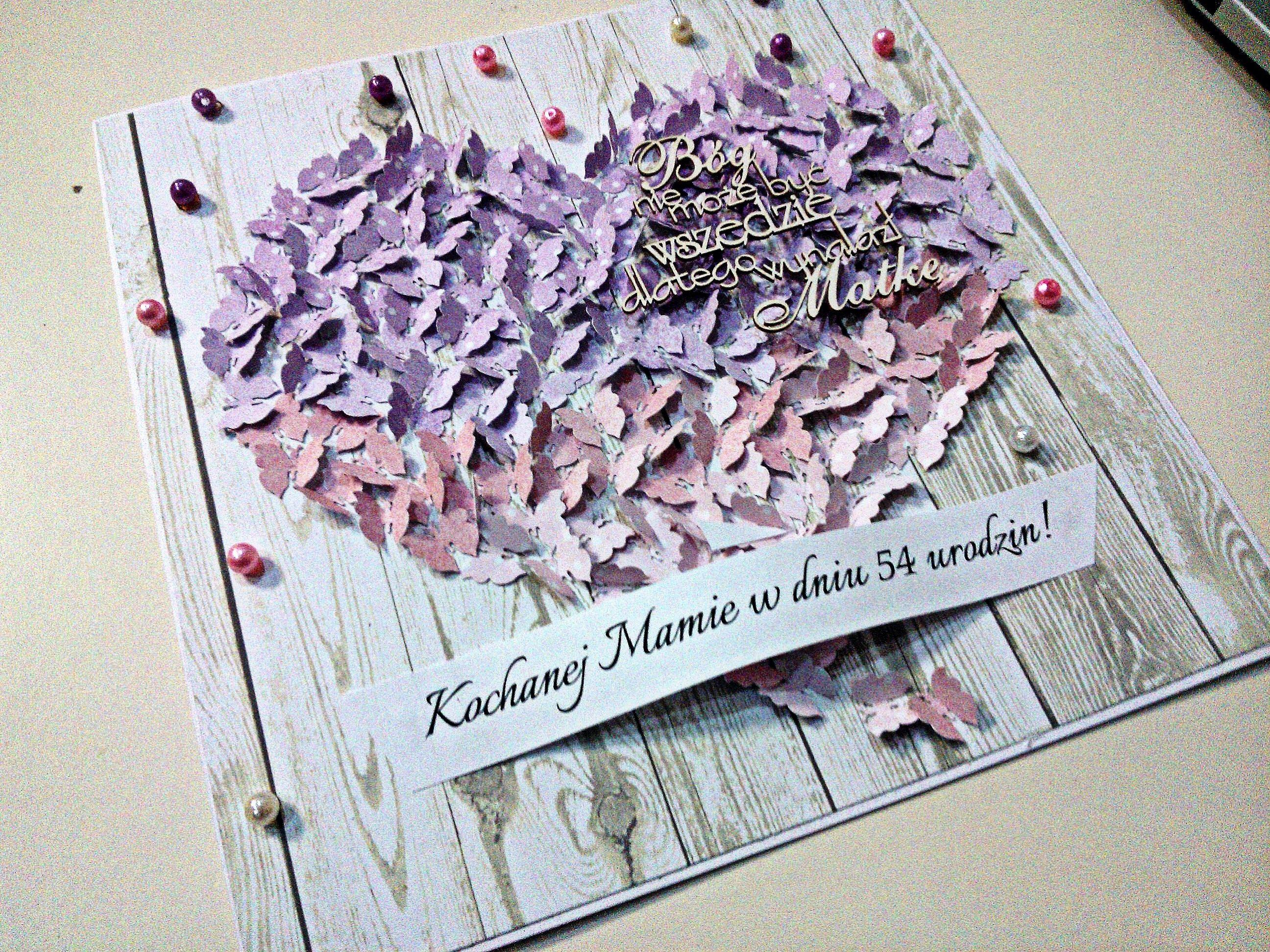 Kartka Dla Mamy Serce Motyle Motyle Wzory Prezenty