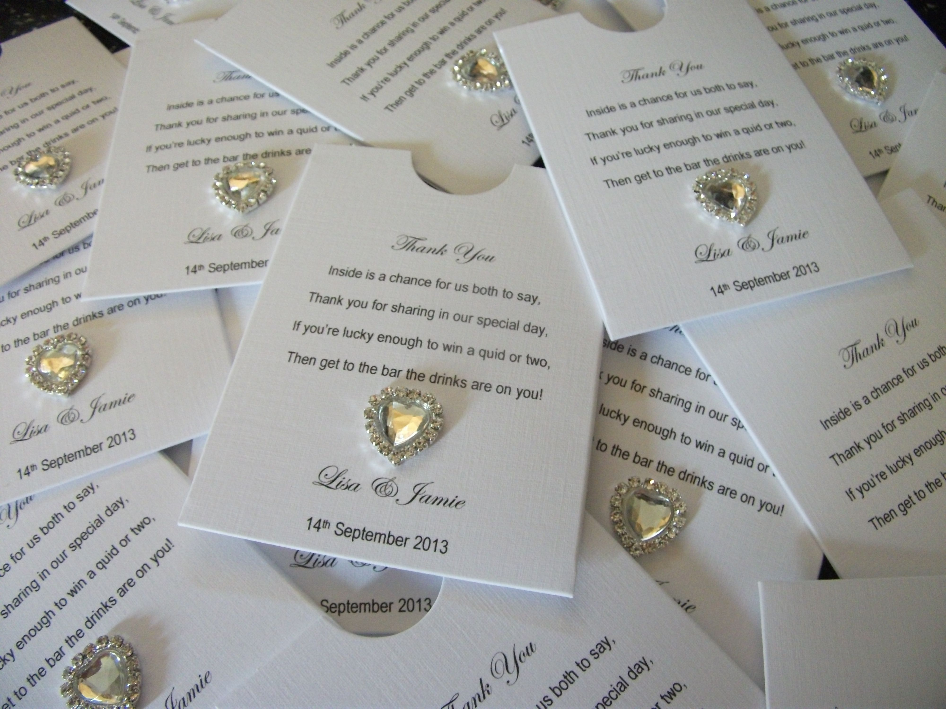 Lottery Ticket Favors « Crystal Couture Luxury Wedding Stationery ...