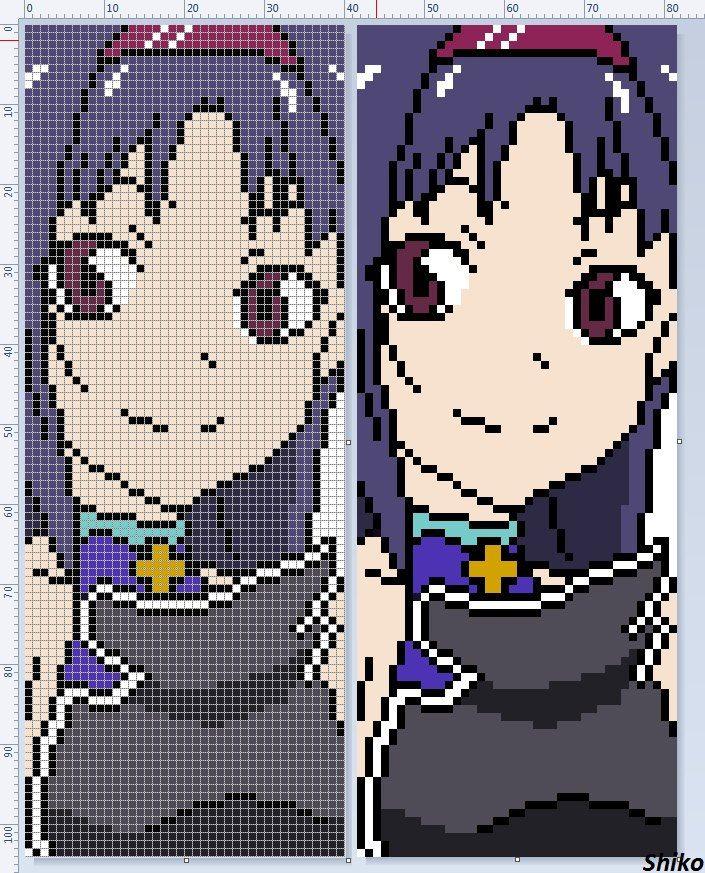 мастера меча онлайн Anime Pixel Art Pixel Art Templates
