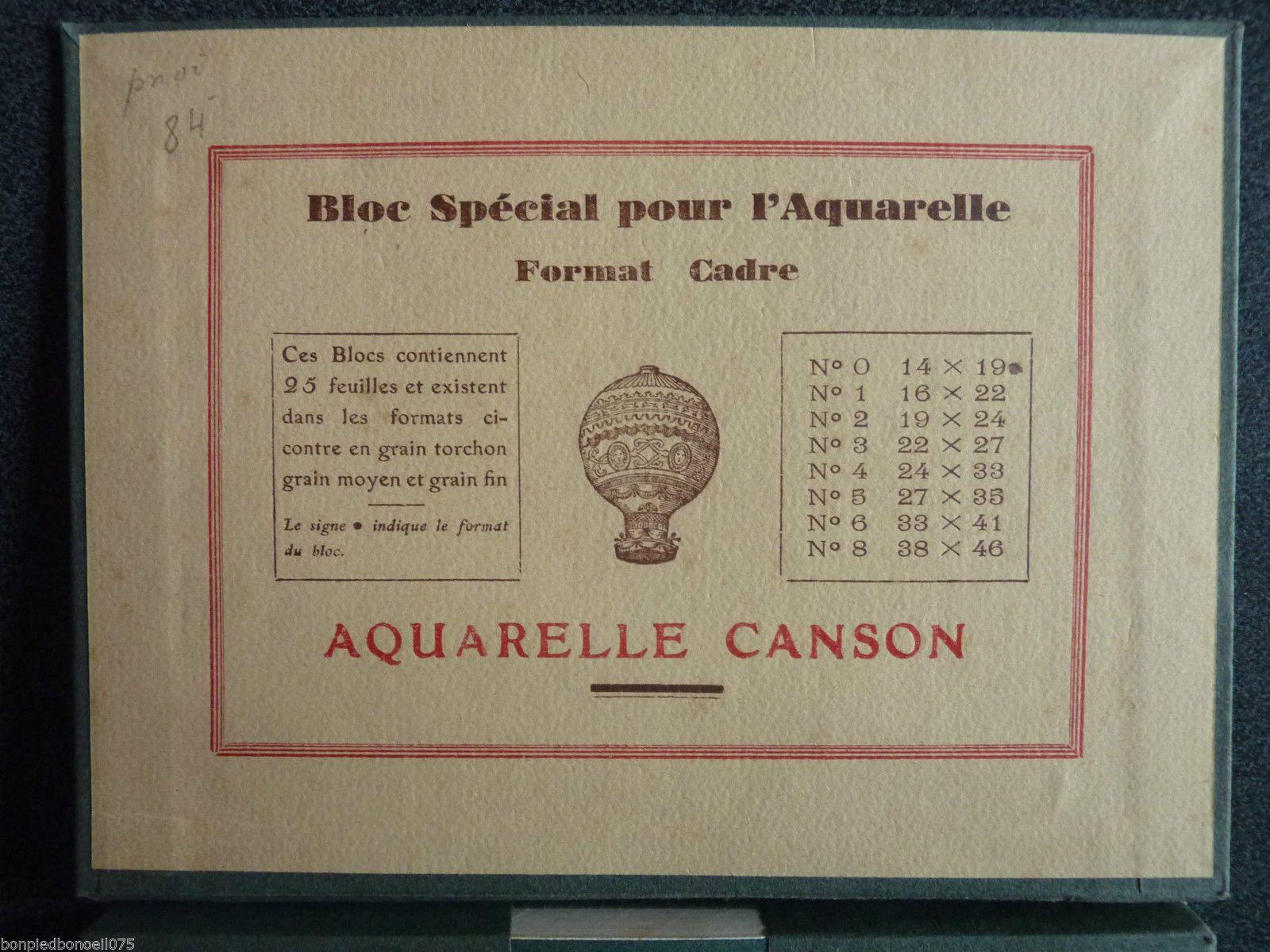 Aquarelle Canson & Montgolfier Bloc de 25 feuilles grain moyen n°0 -14 X 19 | Collections, Ecriture, dessin, Accessoires | eBay!