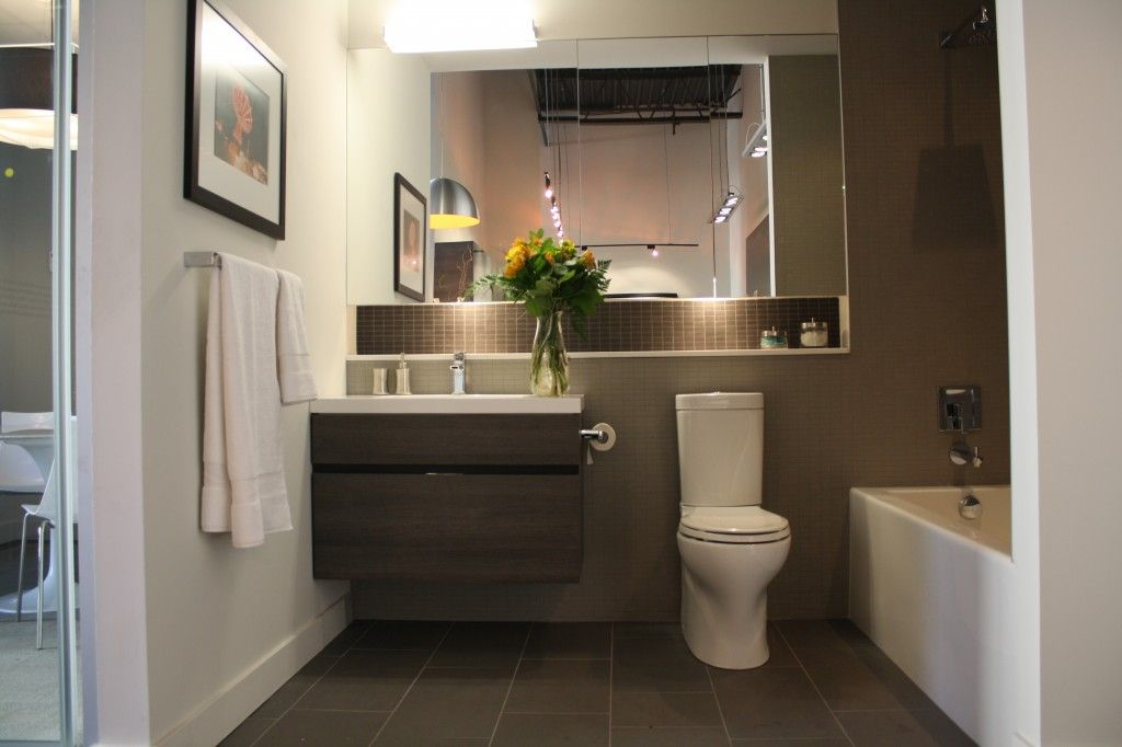 Bathroom idea - love the narrow toilet for a small bathroom