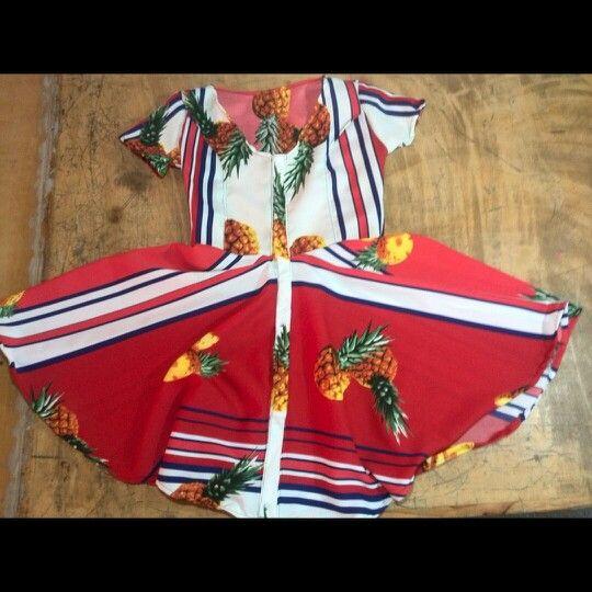 Creando vestido de piñas